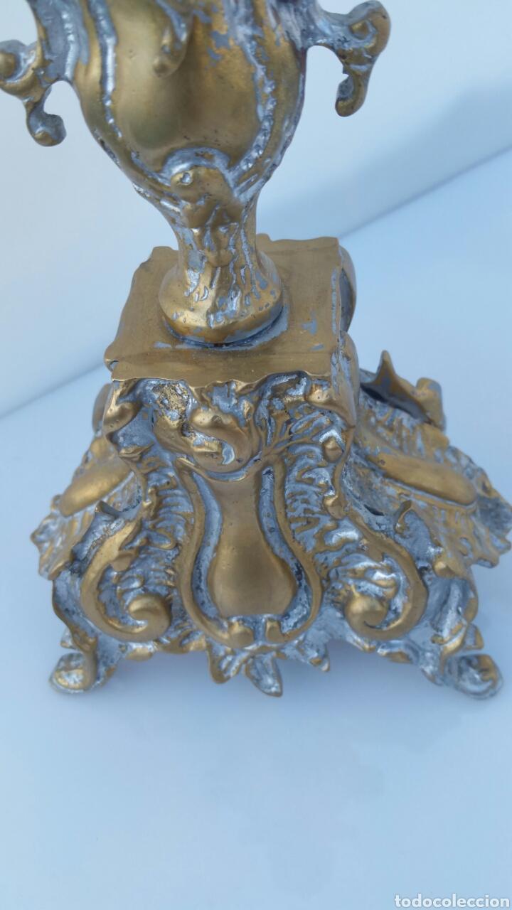 Antigüedades: CANDELABRO BRONCE ALTURA 46 CMS - Foto 2 - 67506555
