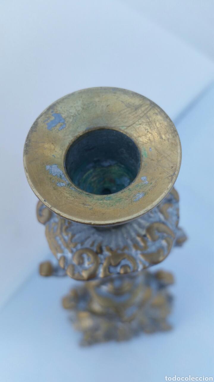 Antigüedades: CANDELABRO BRONCE ALTURA 46 CMS - Foto 4 - 67506555