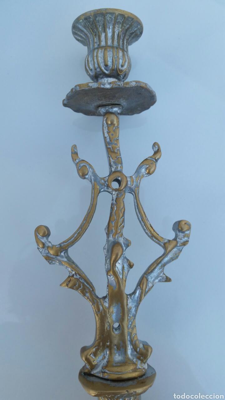 Antigüedades: CANDELABRO BRONCE ALTURA 46 CMS - Foto 6 - 67506555