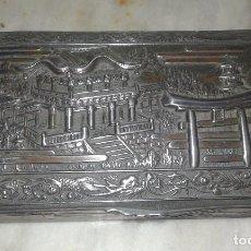 Antigüedades: ANTIGUA CAJA DE ESTAÑO JAPONESA, PRIMERA MITAD SIGLO XX. Lote 67508637