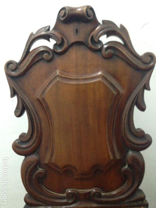 Antigüedades: Pareja sillas caoba siglo XIX - Foto 3 - 140202862