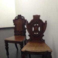 Antigüedades - Pareja sillas caoba siglo XIX - 140202862