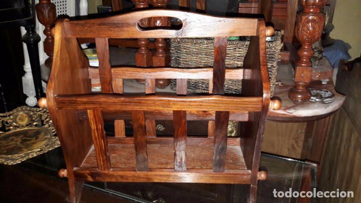 REVISTERO MADERA (Antigüedades - Muebles Antiguos - Revisteros Antiguos)