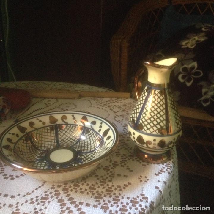 PLATO Y JARRA ARTE CLASSIC MANISES (Antigüedades - Porcelanas y Cerámicas - Manises)