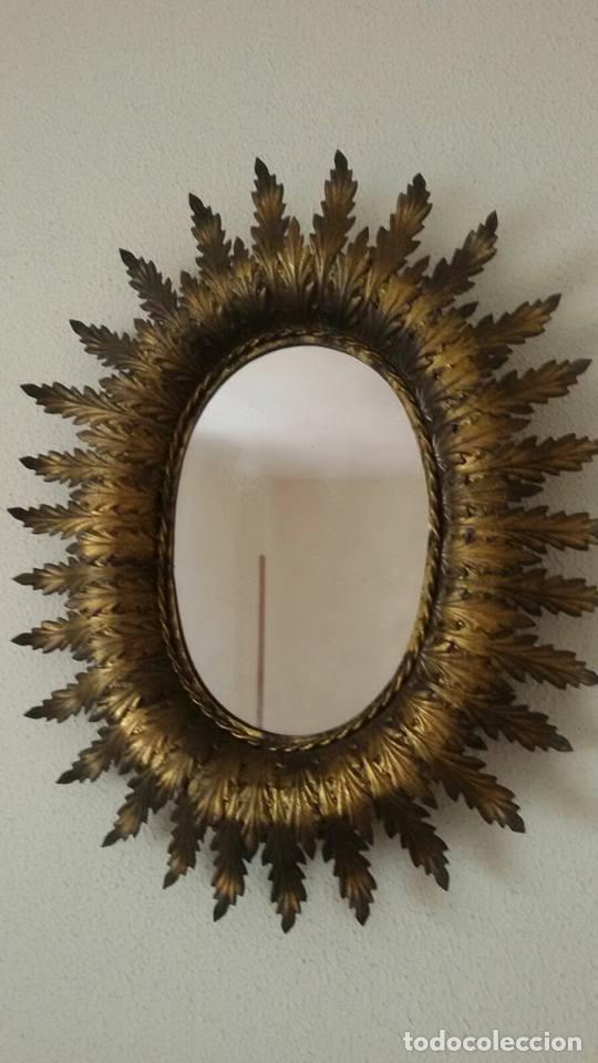Antigüedades: espejo tipo sol - Foto 2 - 118636988