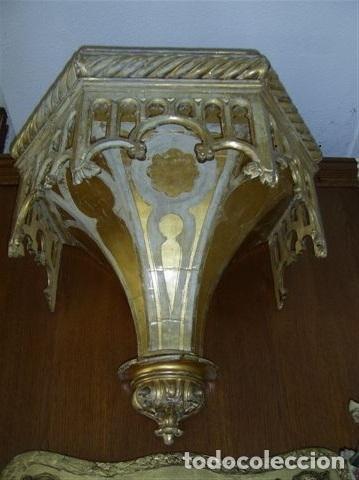 ANTIGUA MÉNSULA O PEANA GÓTICA S. XVIII (Antigüedades - Muebles Antiguos - Ménsulas Antiguas)