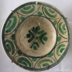 Antigüedades: PLATO DE CERAMICA VALENCIANA. SIGLO XVII. Lote 67714002