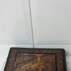 Antigüedades: ANTIGUA CAJA DE CIGARROS EN PIEL REPUJADA. Lote 67754790