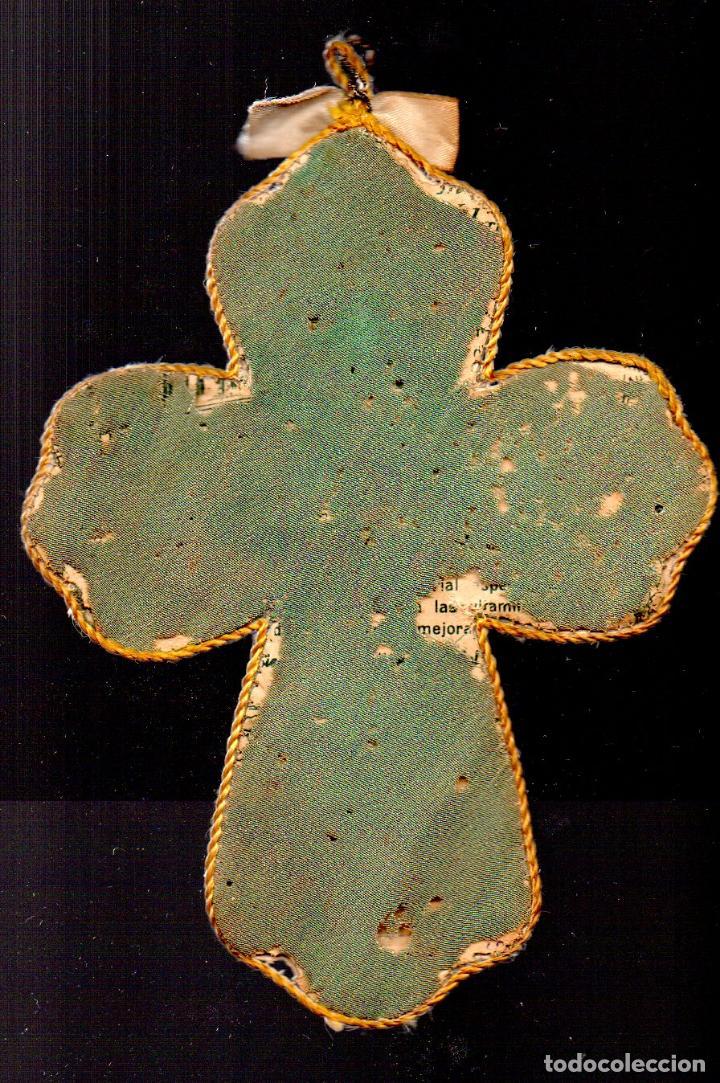 Antigüedades: ANTIGUO ESCAPULARIO DE JESUS CRUCIFICADO - Foto 2 - 67765737