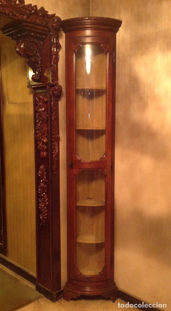 Vitrinas rinconeras madera caoba comprar vitrinas - Rinconeras de madera ...