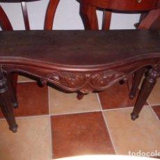 Antigüedades: CONSOLA DE MADERA TALLADA. . Lote 67805517