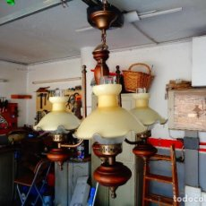 Antigüedades: LAMPARA CON QUINQUÉS VINTAGE. Lote 67826817