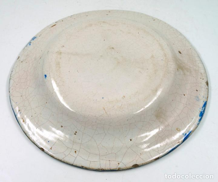 Antigüedades: PLATO DE MANISES antiguo S.XIX. 31 CM DIÁMETRO - Foto 2 - 67830093
