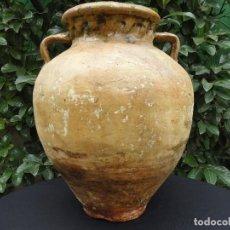 Antigüedades: ALFARERÍA ANDALUZA: TINAJA DE MÁLAGA SIGLO XIX. Lote 67837201