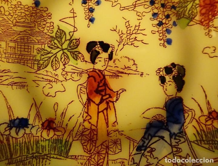 Antigüedades: SEIS PLATOS DE PORCELANA TRASLUCIDA. MARCA EN REVERSO. DIÁMETRO 9 CM - Foto 4 - 67841017