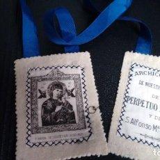 Antigüedades: ESCAPULARIO ARCHICOFRADÍA DE NUESTRA SEÑORA DEL PERPETUO SOCORRO. Lote 67846429
