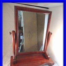 Antigüedades: ESPEJO DE TOCADOR DE CAOBA ABATIBLE ANTIGUA. Lote 67846677