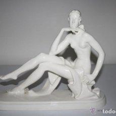 Antigüedades: DAMA POSANDO. PORCELANA. ENA-PORZELLAN VOLKSTEDT. ALEMANIA. CIRCA 1930. Lote 39733406