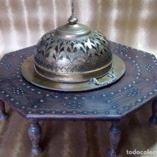 Antigüedades: BRASERO DE BRONCE + BADILLA. Lote 67871485