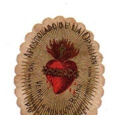 Antigüedades: ANTIGUO ESCAPULARIO DEL SAGRADO CORAZON DE JESUS, APOSTOLADO DE LA ORACION. Lote 67879841