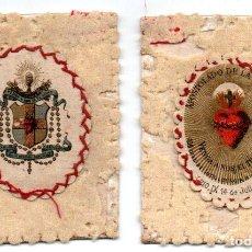 Antigüedades: ANTIGUO ESCAPULARIO DEL SAGRADO CORAZON DE JESUS, APOSTOLADO DE LA ORACION. Lote 67880077