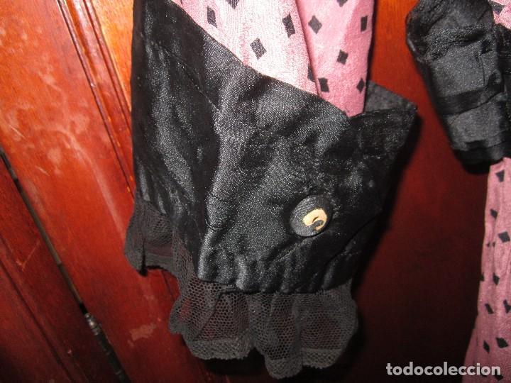 Antigüedades: Vestido largo de seda, años 20. - Foto 11 - 67936197