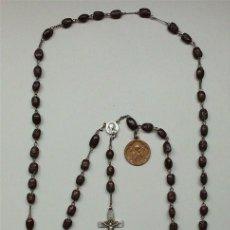 Antigüedades: ANTIGUO ROSARIO CON MEDALLA DE LA VIRGEN DEL PERPETUO SOCORRO Y ALFONSO MARÍA DE LIGORIO. Lote 67954793
