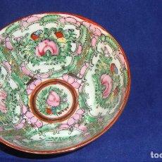 Antigüedades: CUENCO PORCELANA CHINA FABRICADO EN MACAO 11CM.DE DIÁMETRO. Lote 67956097