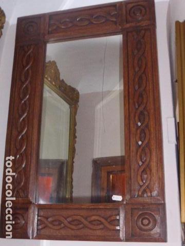 Espejo con marco de madera tallada comprar espejos antiguos en todocoleccion 67964101 - Marcos espejos antiguos ...