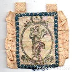 Antigüedades: ANTIGUO ESCAPULARIO DE LA VIRGEN PURISIMA CONCEPCION. Lote 67979813