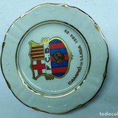 Antigüedades: BONITO PLATO DE LOZA DEL CLUB BARCELONA . Lote 67989361