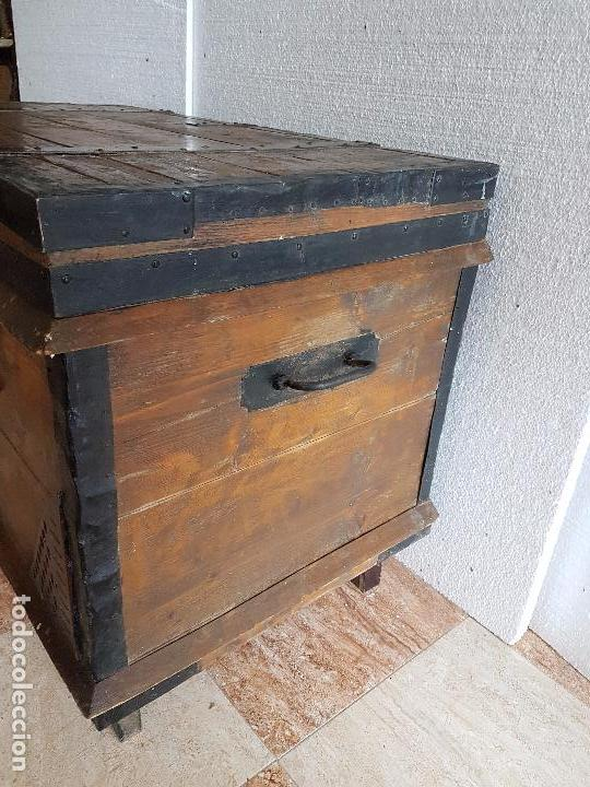 Antigüedades: ARCA DE MADERA DE EL SIGLO XVIII - Foto 3 - 56799931