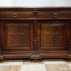 Antigüedades: GRAN APARADOR TALLADO DE MADERA DE NOGAL MACIZO. Lote 51073255