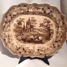 Antigüedades: BANDEJA WILLIAM ADAMS. THOMAS FELL PLATTER (1817-1890). Lote 68015310