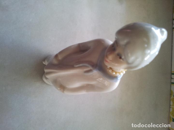 Antigüedades: CERAMICA MUJER 21X5,CON MARCA AZUL NO ILEGIBLE - Foto 3 - 68027069