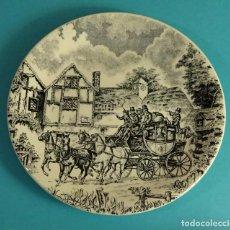 Antigüedades: PLATO SERIGRAFIADO SAN CLAUDIO. MARCA EN REVERSO. DIÁMETRO 19 CM. Lote 68040021
