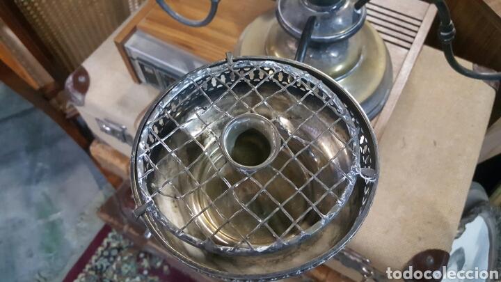 Antigüedades: precioso Candelabro antiguo Portavelas de 4 brazos . metal plateado. ver fotos - Foto 3 - 68041374