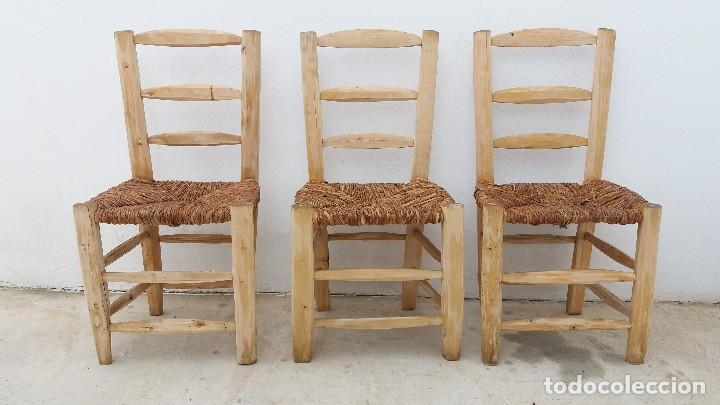 3 sillas antiguas hechas artesanalmente de made comprar - Sillas antiguas de madera ...