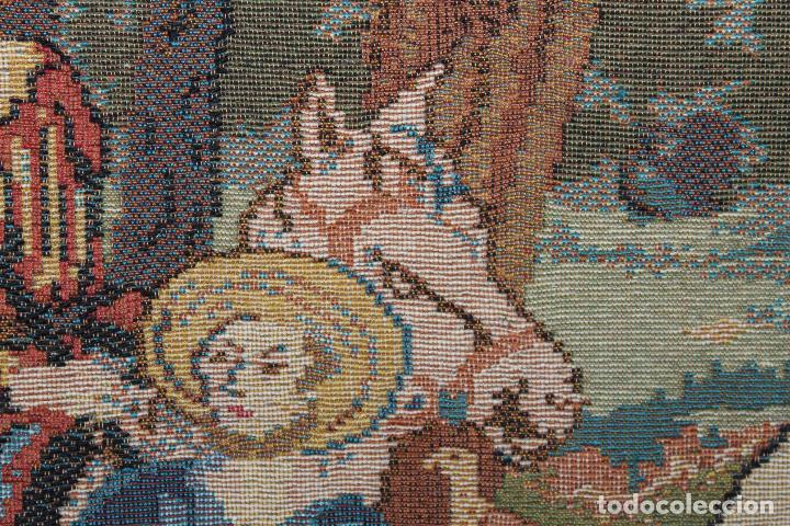 Antigüedades: TAPIZ EN JACQUARD - LA CHASSE AU FACON ROYAL - LES TISSAGES DART DE LYS - CIRCA 1940 - Foto 5 - 68068037