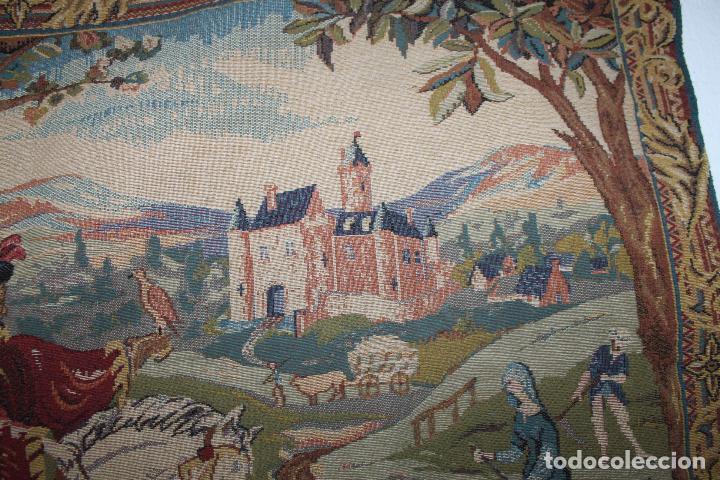Antigüedades: TAPIZ EN JACQUARD - LA CHASSE AU FACON ROYAL - LES TISSAGES DART DE LYS - CIRCA 1940 - Foto 8 - 68068037