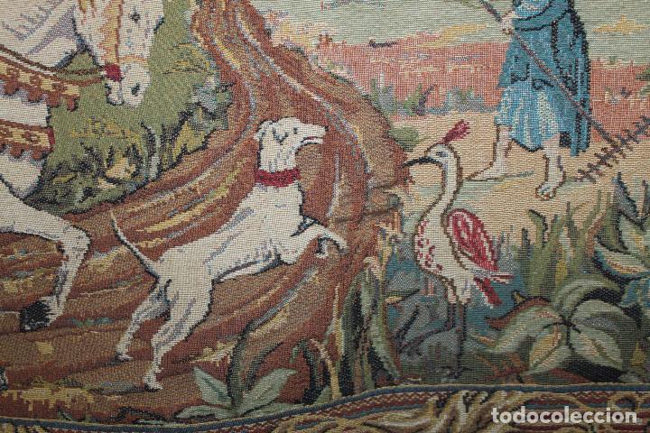 Antigüedades: TAPIZ EN JACQUARD - LA CHASSE AU FACON ROYAL - LES TISSAGES DART DE LYS - CIRCA 1940 - Foto 11 - 68068037