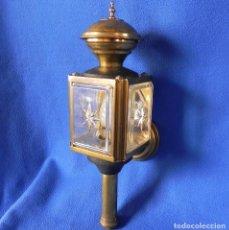 Antiquitäten - ** ANTIGUO FAROL DE CARRUAJE DE VELA QUE SE HA ADAPTADO ELECTRICAMENTE ** - 68113033
