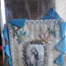 Antigüedades: ESCAPULARIO RECUERDO J. QUIROGA. Lote 68124157