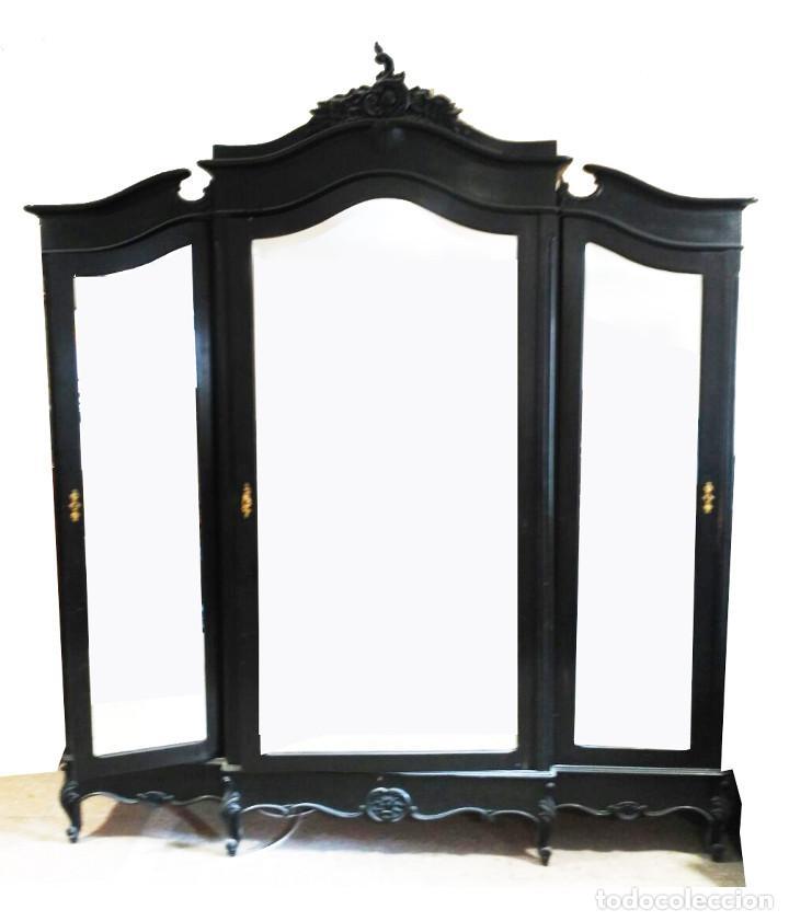 Antigüedades: Dormitorio antiguo en color negro COMPLETO - Foto 2 - 68145389