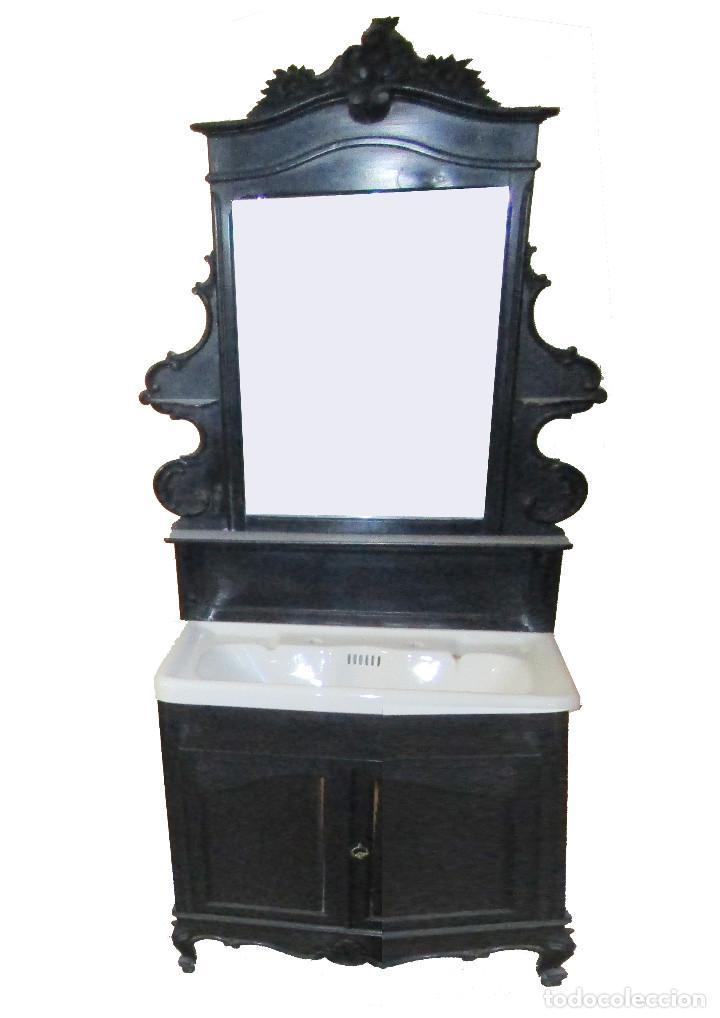Antigüedades: Dormitorio antiguo en color negro COMPLETO - Foto 3 - 68145389