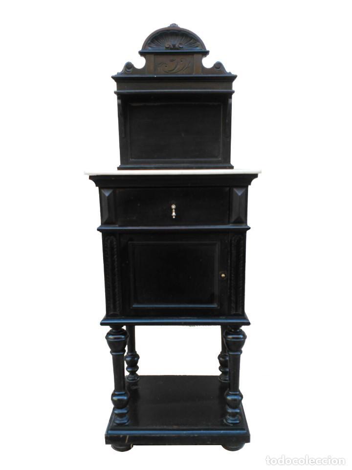 Antigüedades: Dormitorio antiguo en color negro COMPLETO - Foto 4 - 68145389