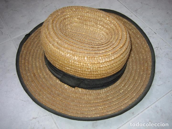 SOMBRERO ANTIGUO CANNOTIER DE CABALLERO TALLA 56. FABRICADO EN ESPAÑA (Antigüedades - Moda - Sombreros Antiguos)