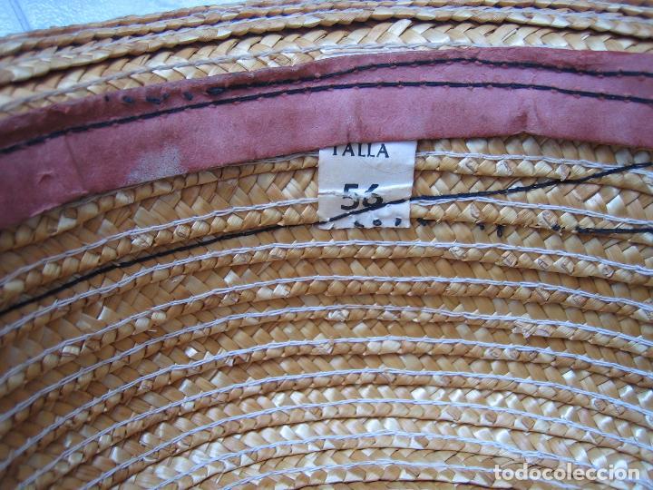Antigüedades: Sombrero antiguo cannotier de caballero talla 56. Fabricado en España - Foto 5 - 68146513