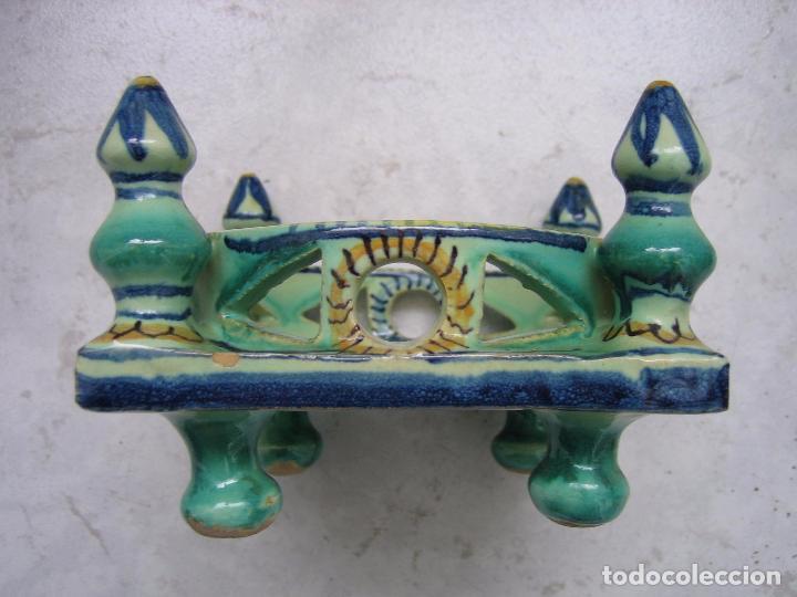 Antigüedades: Antigua cerámica. Medias 13x13x9 cm - Foto 7 - 68148013