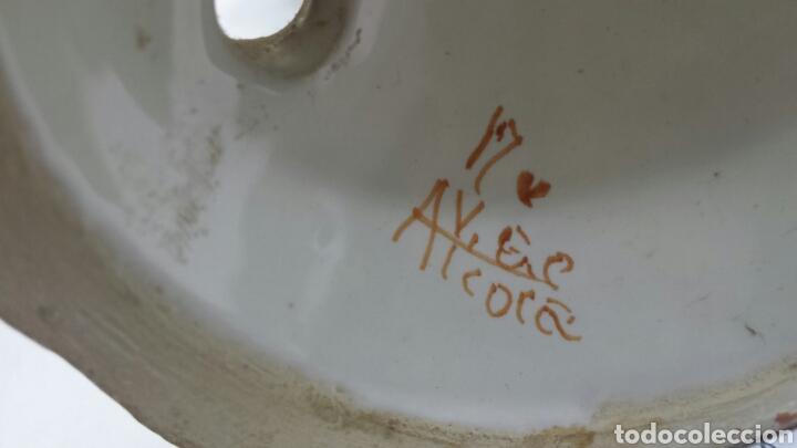 Antigüedades: Antiguo candelabro de ceramica de Alcora sellado - Foto 6 - 68177386